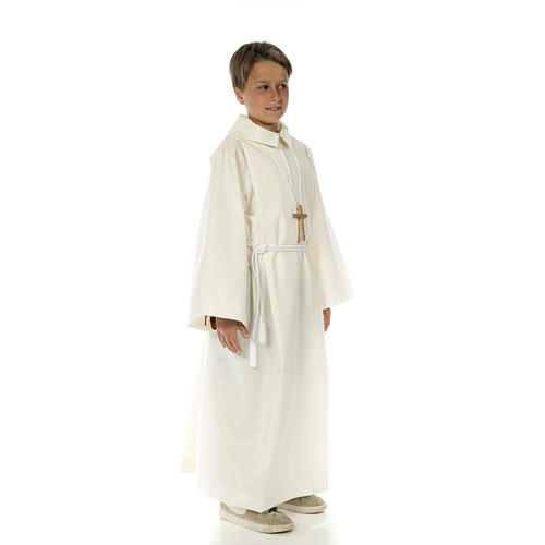 Altar server alb in polyester and wool 11