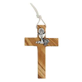 Croce per Prima comunione in legno ulivo s1