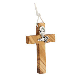Croce per Prima comunione in legno ulivo s2