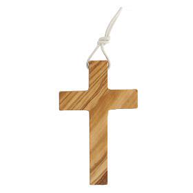 Croce per Prima comunione in legno ulivo s3