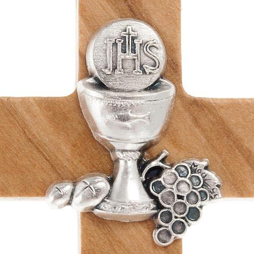 Croce per Prima comunione in legno ulivo 2