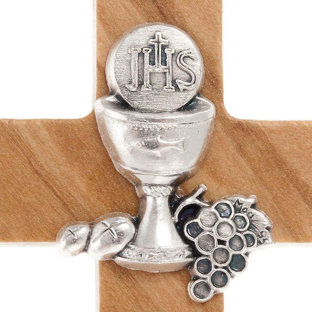 Krzyż do Pierwszej Komunii z drewna oliwnego 4