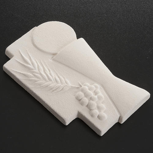 Bas-relief First Communion crucifix, 15 cm 4