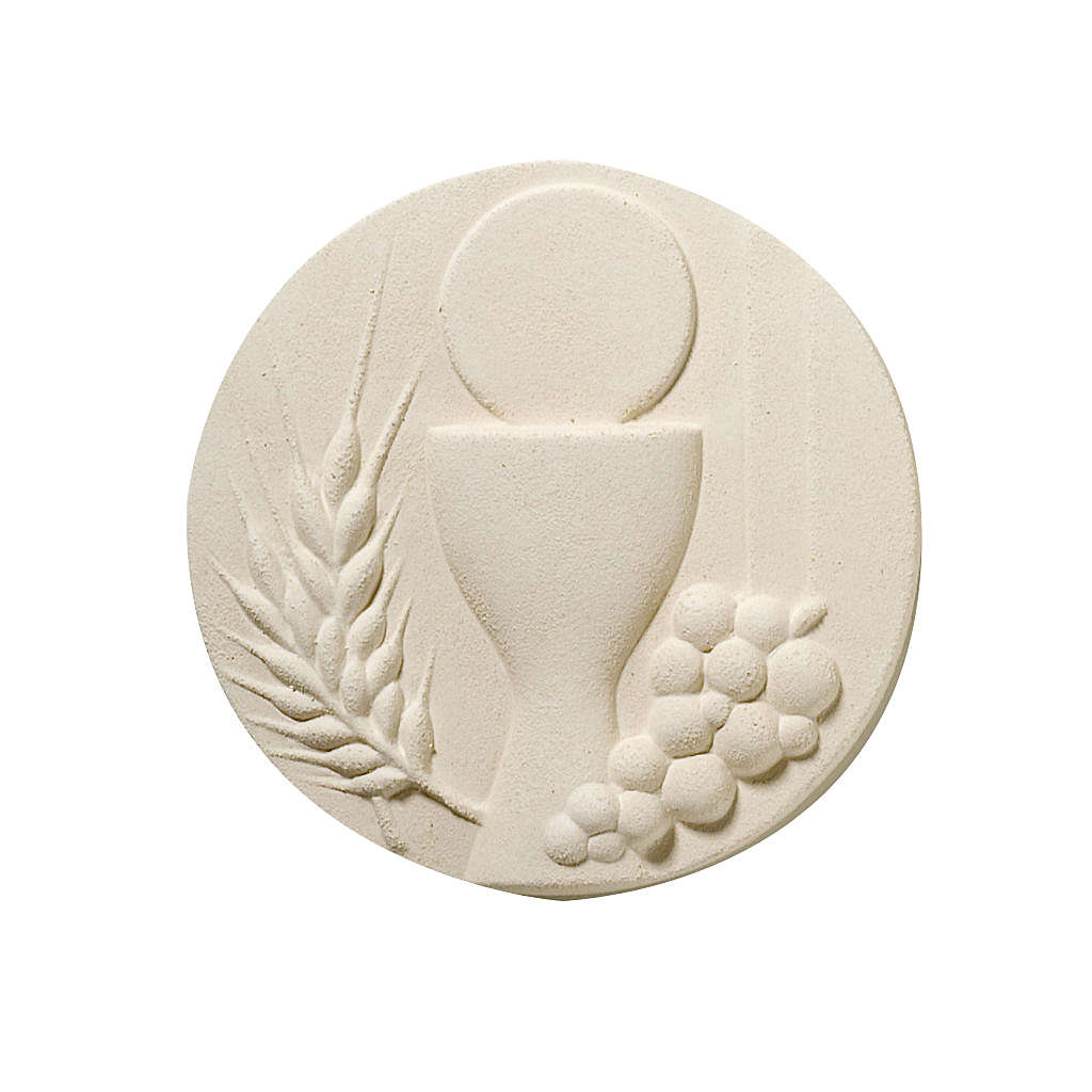 Round picture for Communion, white 3