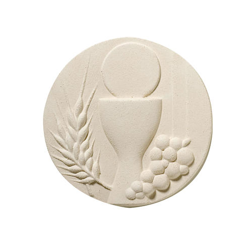 Round picture for Communion, white 1