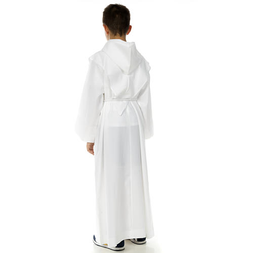 First Communion alb with Tau and Cross 3