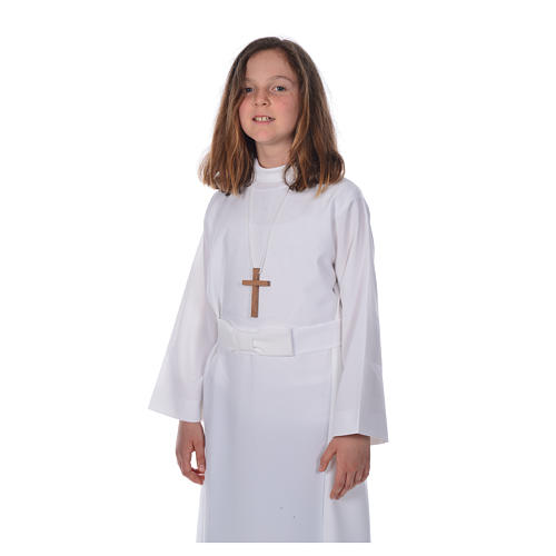 First communion alb for girl with bow 5