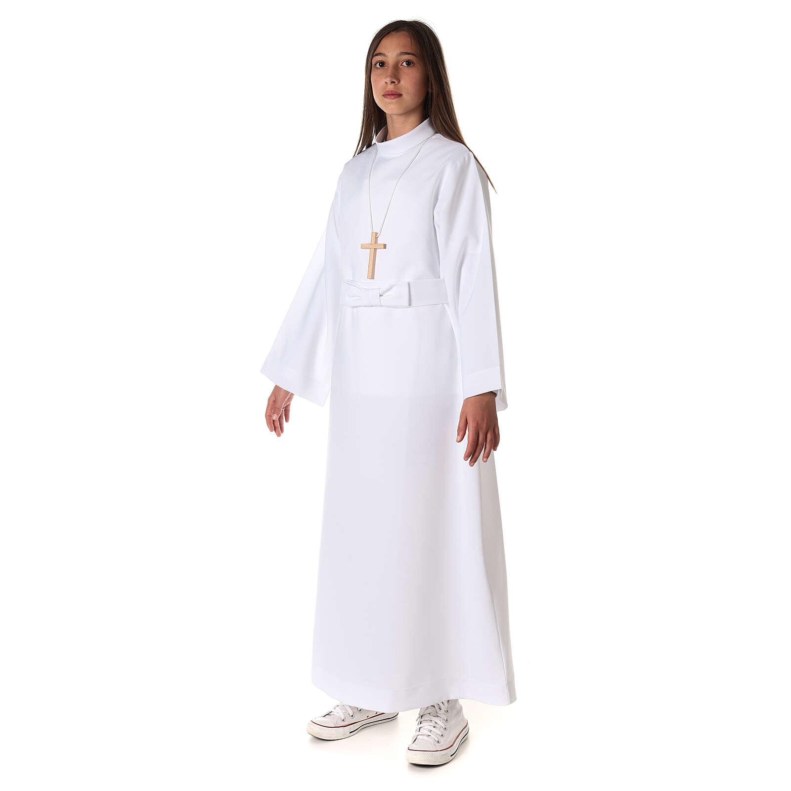 Aube communion fille avec noeud 4