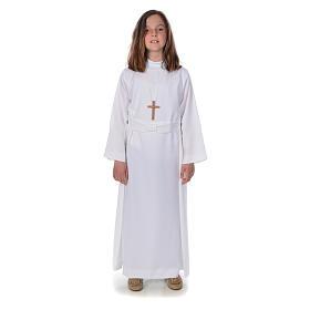 Aubes communion, profession de foi: Aube communion fille avec flocon
