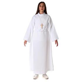 Aube communion fille avec noeud s4
