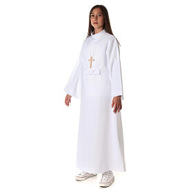 Aube communion fille avec noeud s6