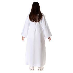 Aube communion fille avec noeud s9