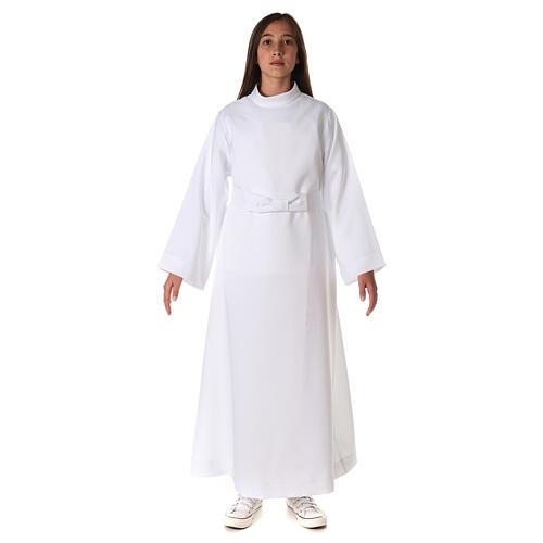 Aube communion fille avec noeud 1