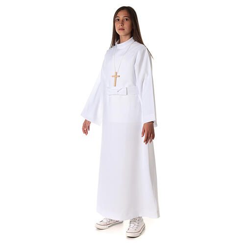Aube communion fille avec noeud 6