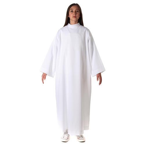 Aube communion fille avec noeud 7