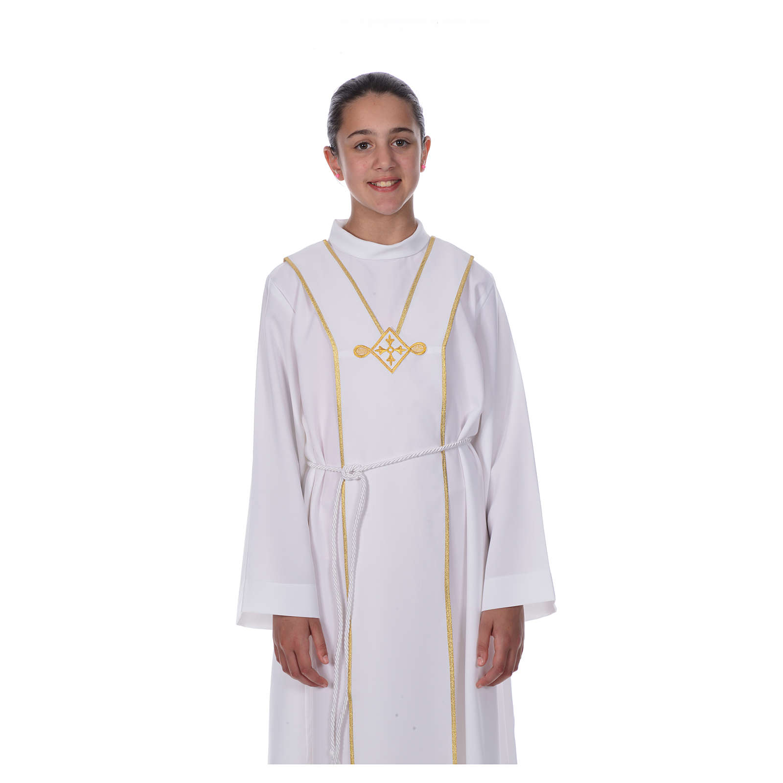 Aube communion scapulaire brodé 4