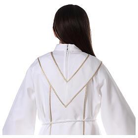 Aube communion scapulaire brodé s6