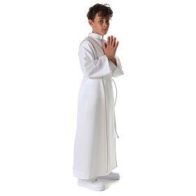 Aube communion scapulaire brodé s11