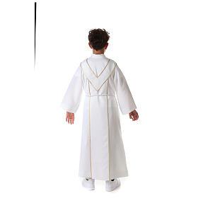 Aube communion scapulaire brodé s16
