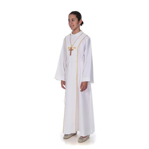 Aube communion scapulaire brodé 2
