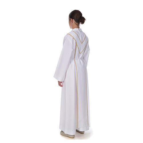 Aube communion scapulaire brodé 3