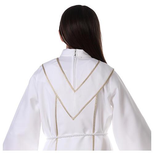 Aube communion scapulaire brodé 6