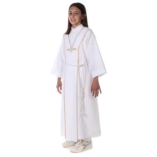 Aube communion scapulaire brodé 10