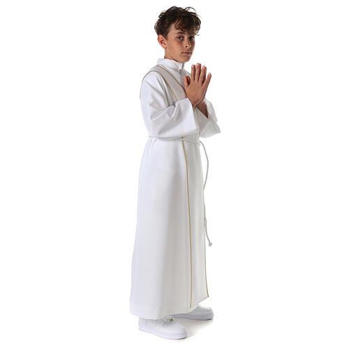 Aube communion scapulaire brodé 11