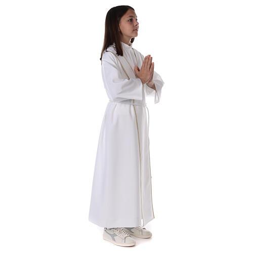 Aube communion scapulaire brodé 12