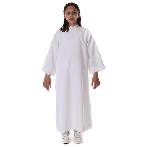 Aube communion scapulaire brodé 13