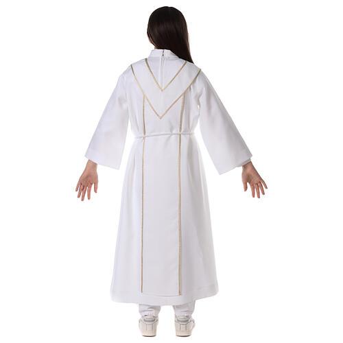 Aube communion scapulaire brodé 15