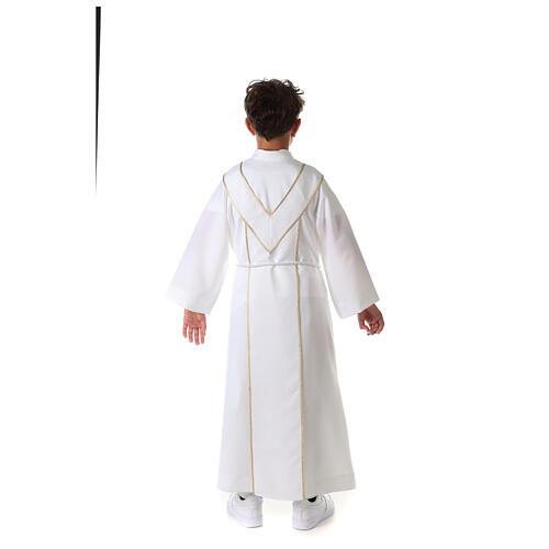 Aube communion scapulaire brodé 16