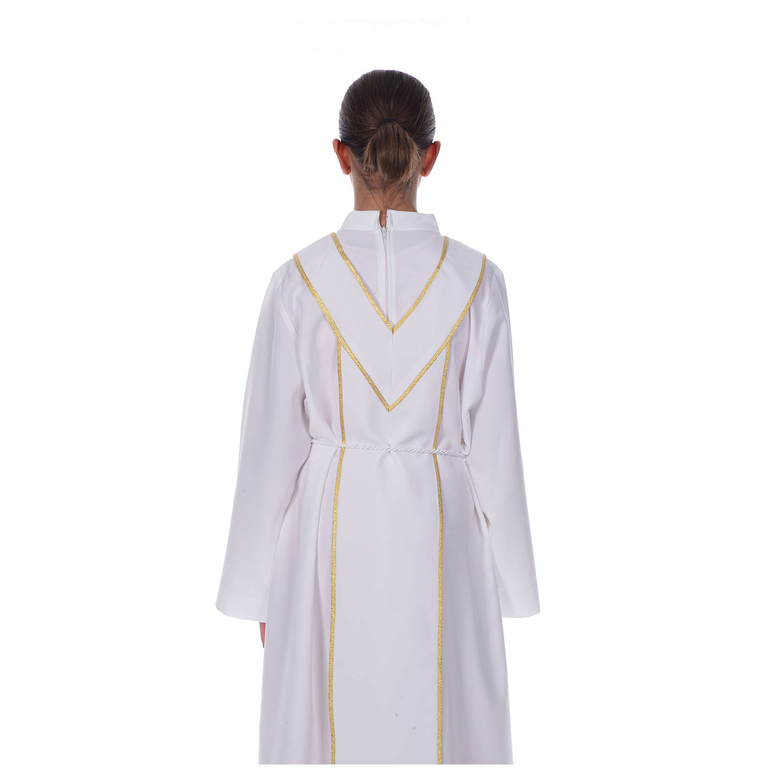 First Communion alb, with embroidered stole 4