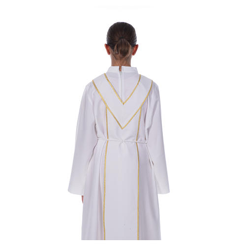 First Communion alb, with embroidered stole 6