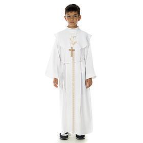 Aubes communion, profession de foi: Aube communion garçon avec calice
