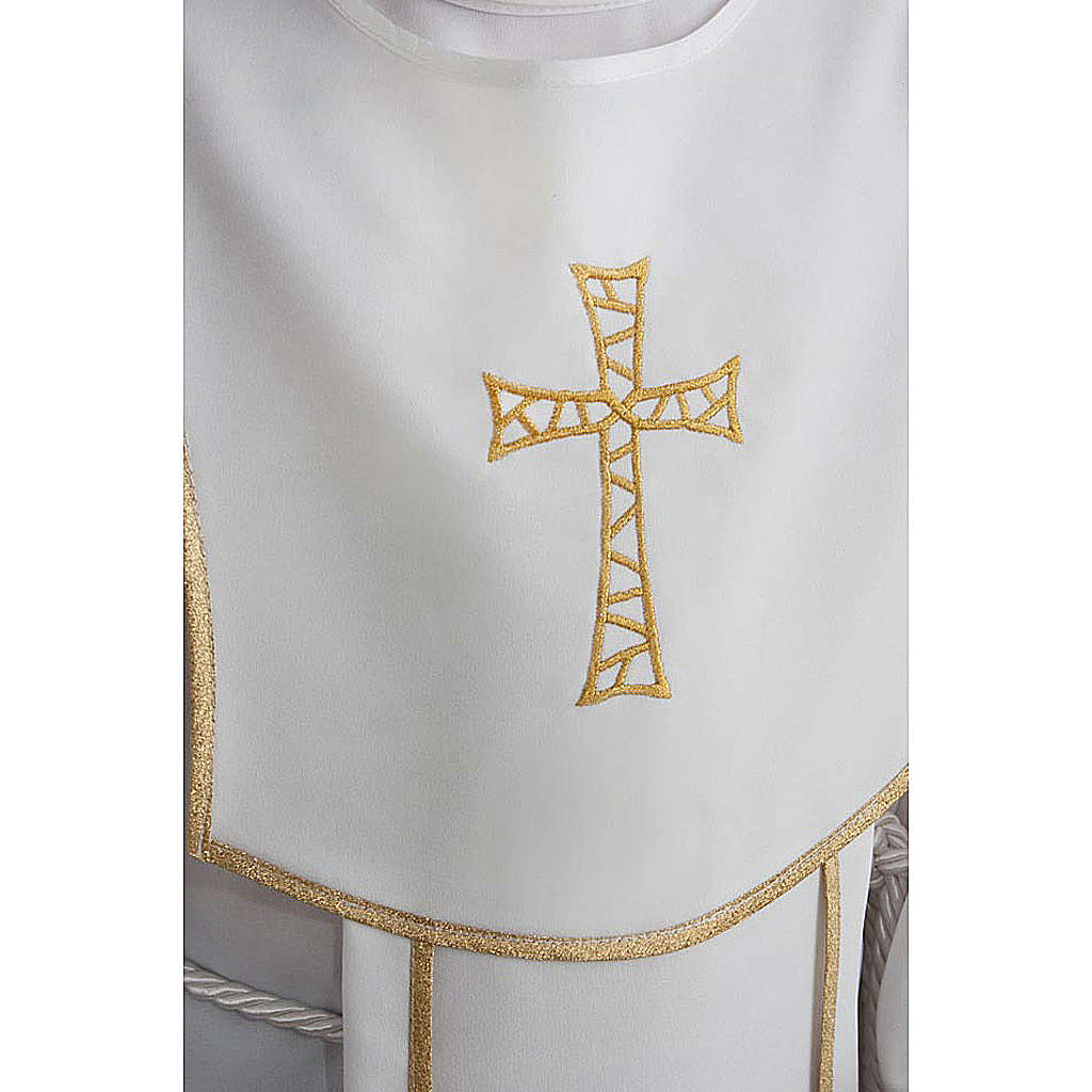First Communion alb for boy, honeycomb embroidery 4