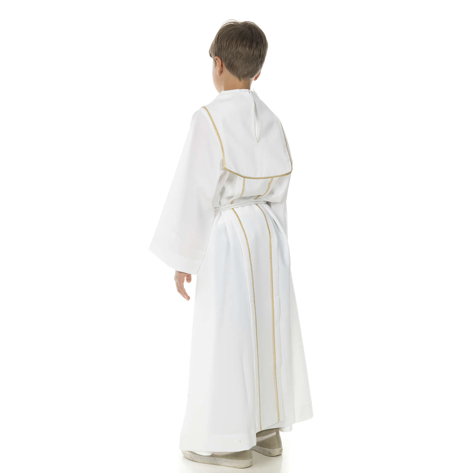 Aube communion garçon avec croix 4