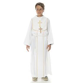 Aube communion garçon avec croix s1