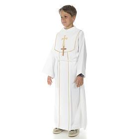 Aube communion garçon avec croix s2