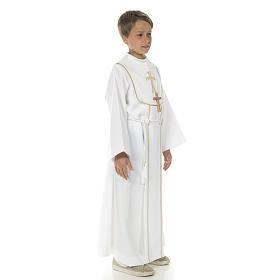 Aube communion garçon avec croix s4