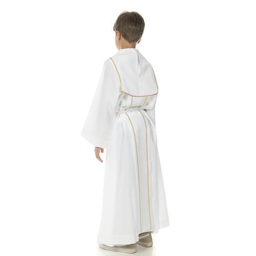 Aube communion garçon avec croix 3