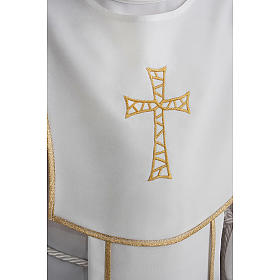 First Communion alb for boy with honeycomb embroidery s5