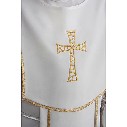 First Communion alb for boy with honeycomb embroidery 5