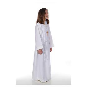 Aube communion fille Macramé s4