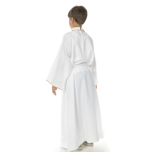 First Communion alb for boy, cross 3