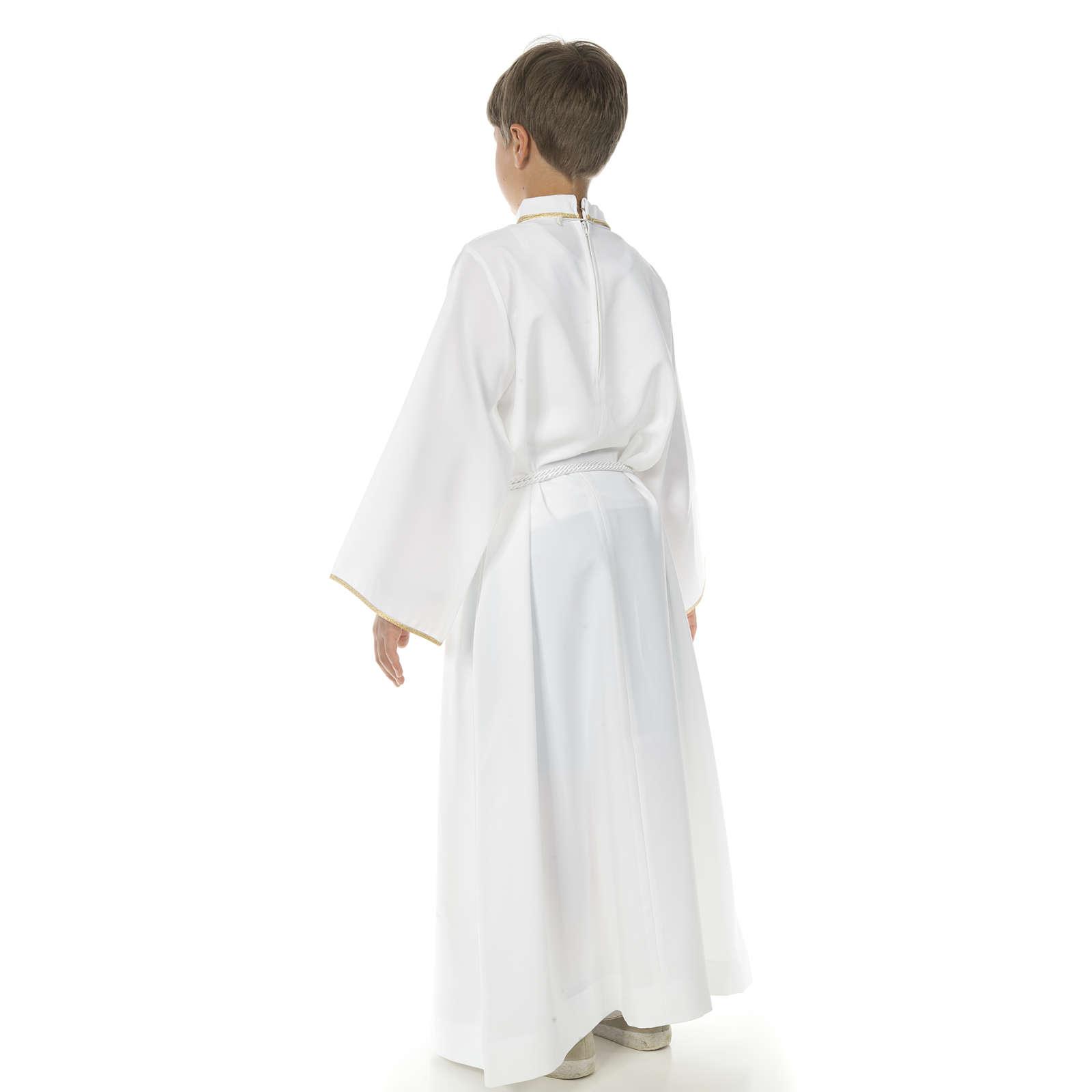 Aube communion avec croix brodée 4