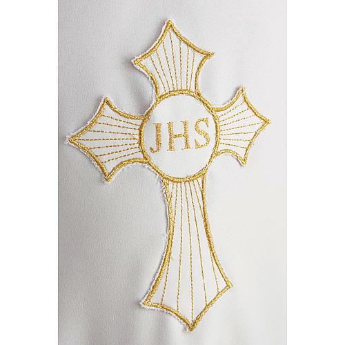 Aube communion avec croix brodée 5