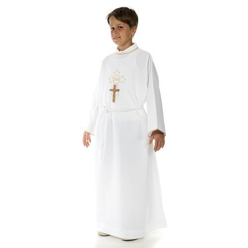 Abito prima comunione per bambino croce 2
