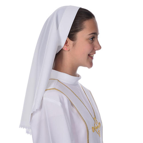Communion veil with lace for alb 1