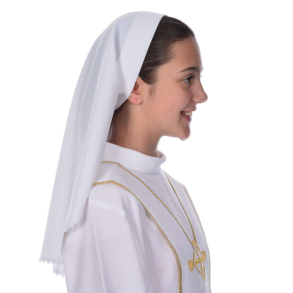 Communion veil with lace for alb 4